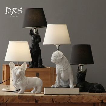 Designer Desk Lamp Nordic Danish Retro Bedroom Bedside Table Lamp Creative Study Decoracao Para Casa Lights Kids Room Dog Lamp