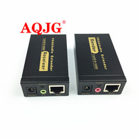 1PCS VGA Video Audio Extender 100M 328ft Over Single RJ45 CAT5e/6 1080P VGA transmission to rj45 signal amplifier Extender