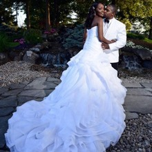 trust linda Sexy Sweetheart Organza Mermaid Wedding Dresses