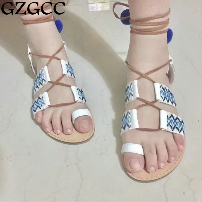 GZGCC 2017 hot summer leisure female sandals comfortable leather women shoes