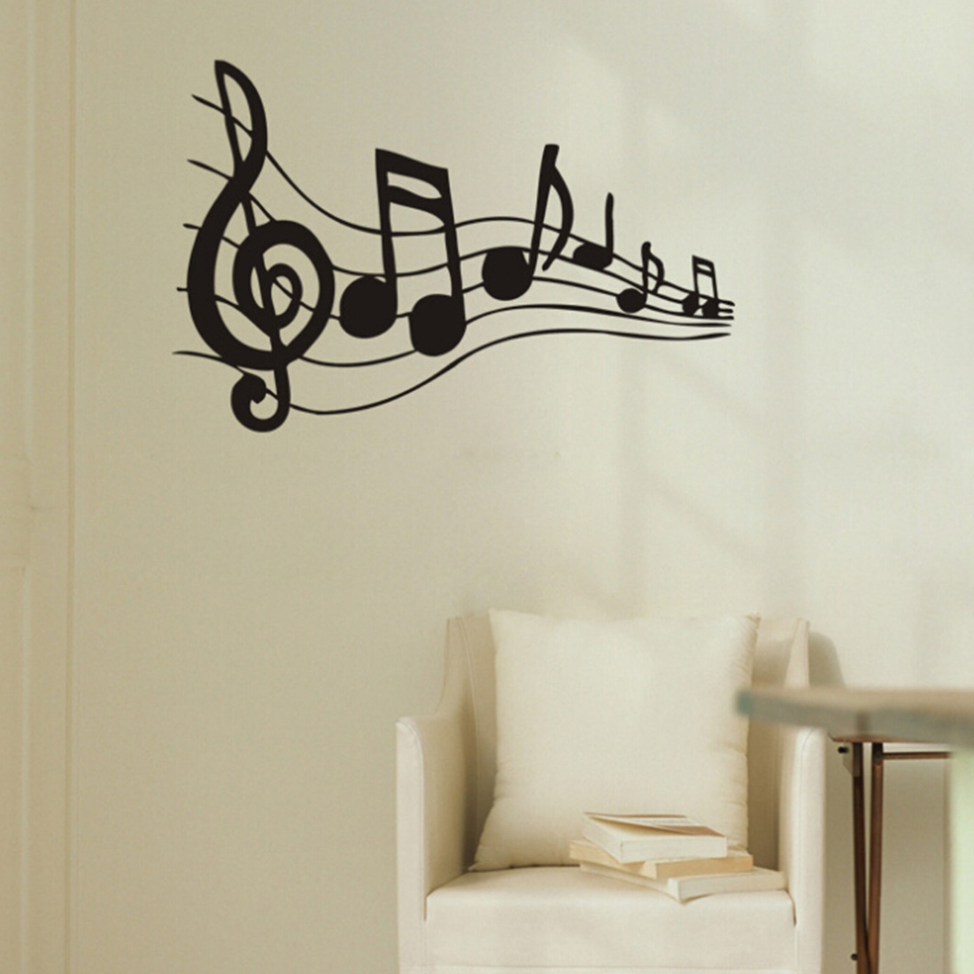 Graffiti wall vinyl - 2017 Hot And New Removable Sticker Paper Music Note Pattern Graffiti Wall Home Decor Vinyl Decal