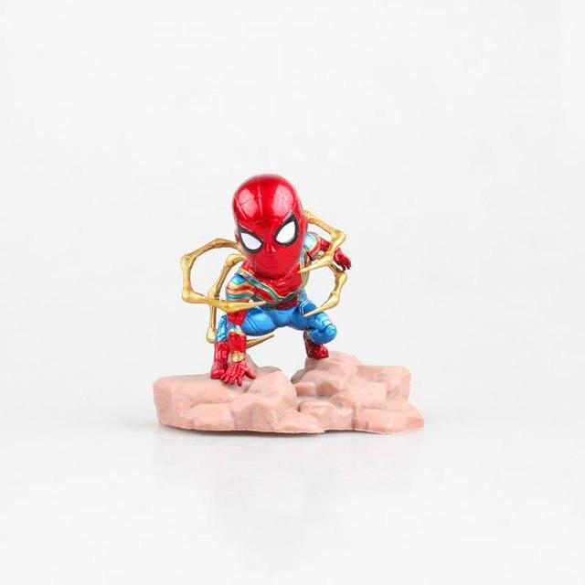 Vingadores: Infinito Guerra Aço Superhero Movie Spiderman Q Edição PVC Action Figure Collectible Modelo Toy Presente de Natal Em Caixa