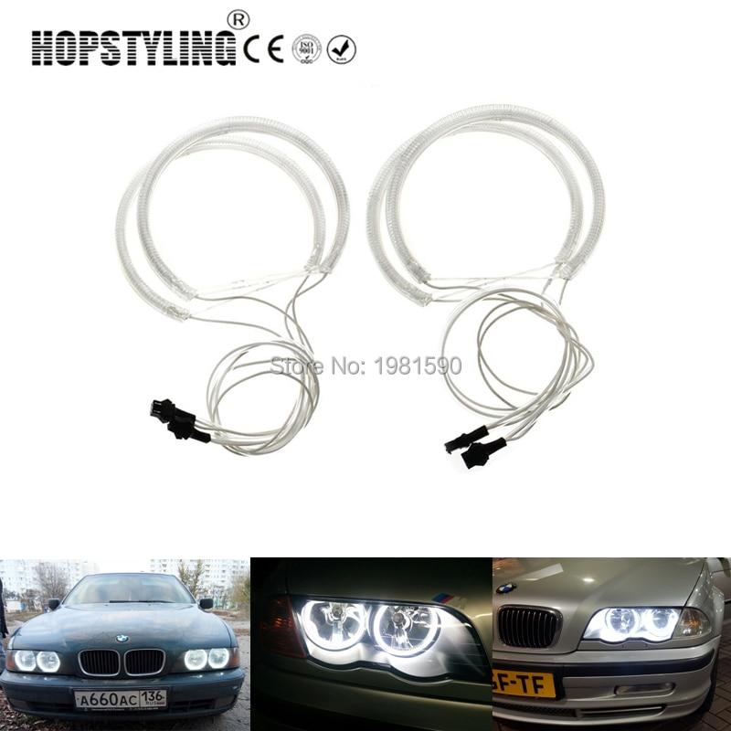 Hopstyling 1 set CCFL Halo rings angel eyes for BMW E46 Non projector A+B Error Free car headlight kits 2x131mm 2x145mm White стоимость