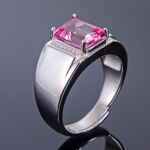 Image 5 - Meibapj 6*8 Real Natural Roze Topaz Edelsteen Mannen Ring Of Lege Ring Ondersteuning Real 925 Sterling Zilver Fijne bruiloft Sieraden