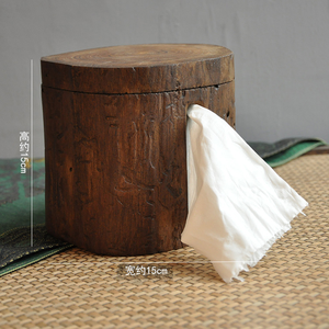 Image 5 - Retro wooden paper holder household bathroom wall hanging toilet roll paper storage rack tissue box home decoration mx3051512