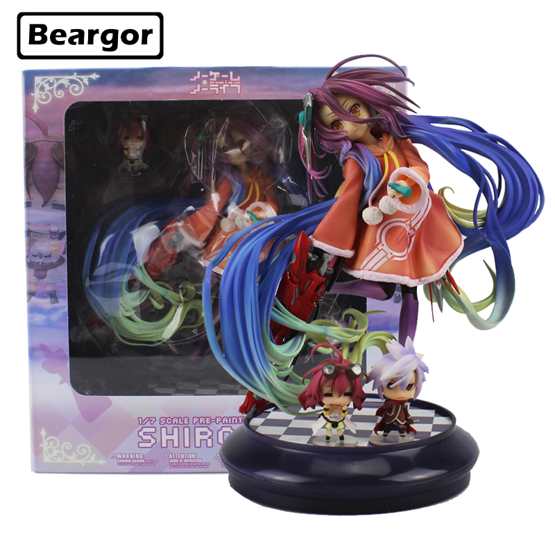 цена на Free Shipping Sexy 9 No Game No Life Anime Zero Schwi 1/7 Scale Boxed 22cm PVC Action Figure Collection Model Doll Toys Gift
