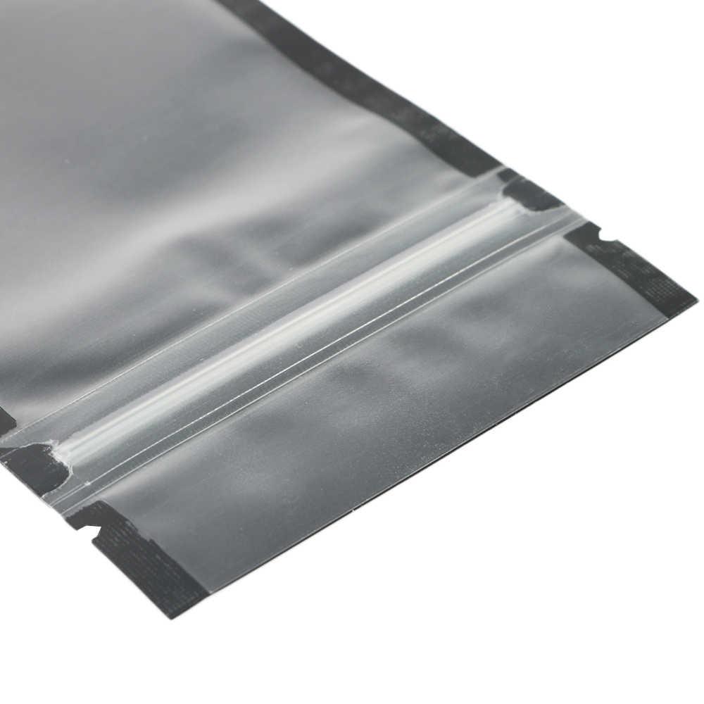 מגוון גדלים מט ברור/שחור/שחור Zip שקיות נעילת 100pcs PE פלסטיק שטוח Ziplock חבילה