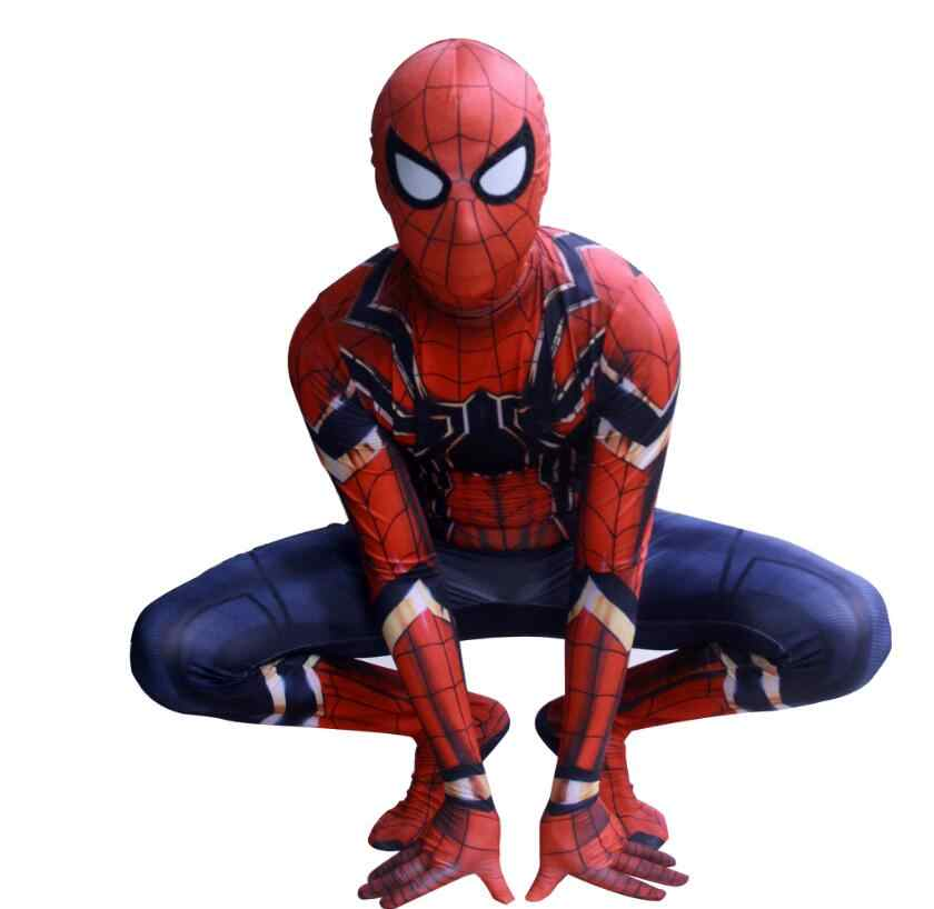 Baru Iron Spider Man Cosplay Kostum Film Avengers Infinity War Superhero Zentai Homecoming Spiderman Bodysuit Anak Custom Made