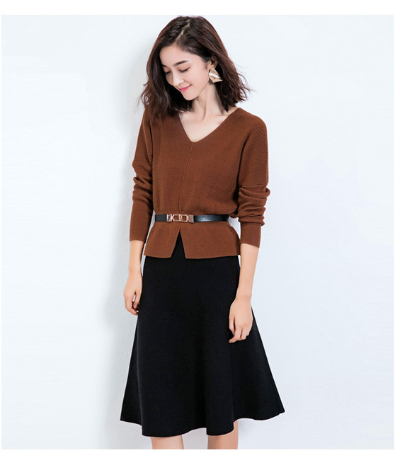 1805e64b12 2016 Women Autumn Winter Knee length Fashion Warm Soft Stetchy Knitted one  size fit all Umbrella