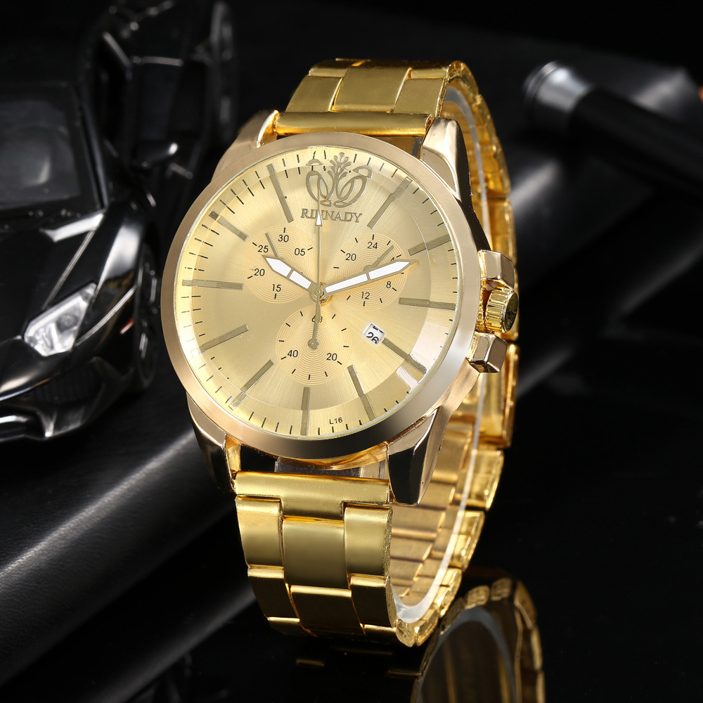 Stainless Steel Mens Watches Calendar Analog Dial Wristwatch Male Gold Watch Business Quartz Watch luxury Clock 2018 Men GiftsStainless Steel Mens Watches Calendar Analog Dial Wristwatch Male Gold Watch Business Quartz Watch luxury Clock 2018 Men Gifts