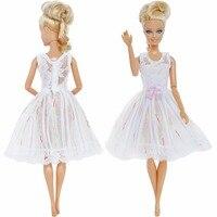 5 компл./лот смешанные стиль платье Повседневная одежда кружево Свадебная вечеринка юбка принцессы интимные Аксессуары Одежда для куклы Барби подарок