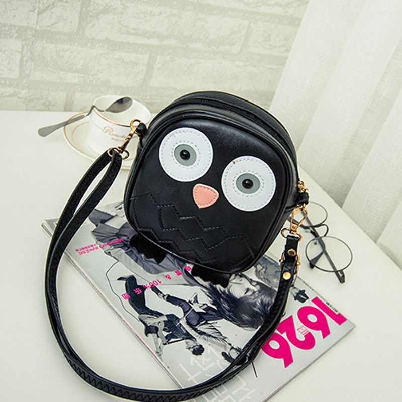 Cute Purse Handbag Owl Women Messenger Bags For Summer Crossbody Shoulder Bag with Belt Strap Lady Clutch Purses Phone