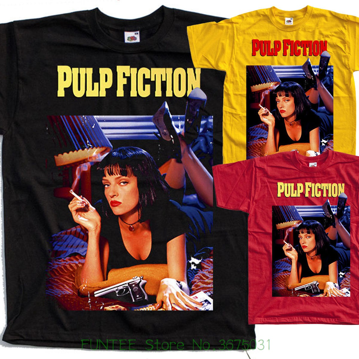 New 2018 Summer Fashion Pulp Fiction , Poster , 1994 , Quentin Tarantino   T     Shirt   All Sizes S To 5xl