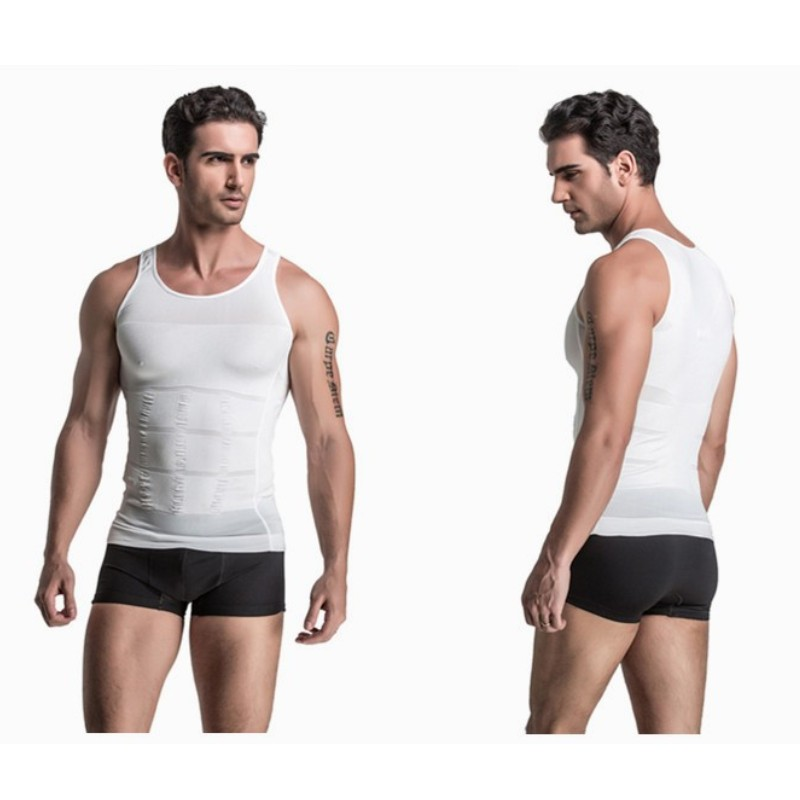 S-2XL Mens Slimming Vest body shaper Tank Top Classic Undershirt Tight T-shirt Abdomen Shapewear Tummy Waist lost weight N life