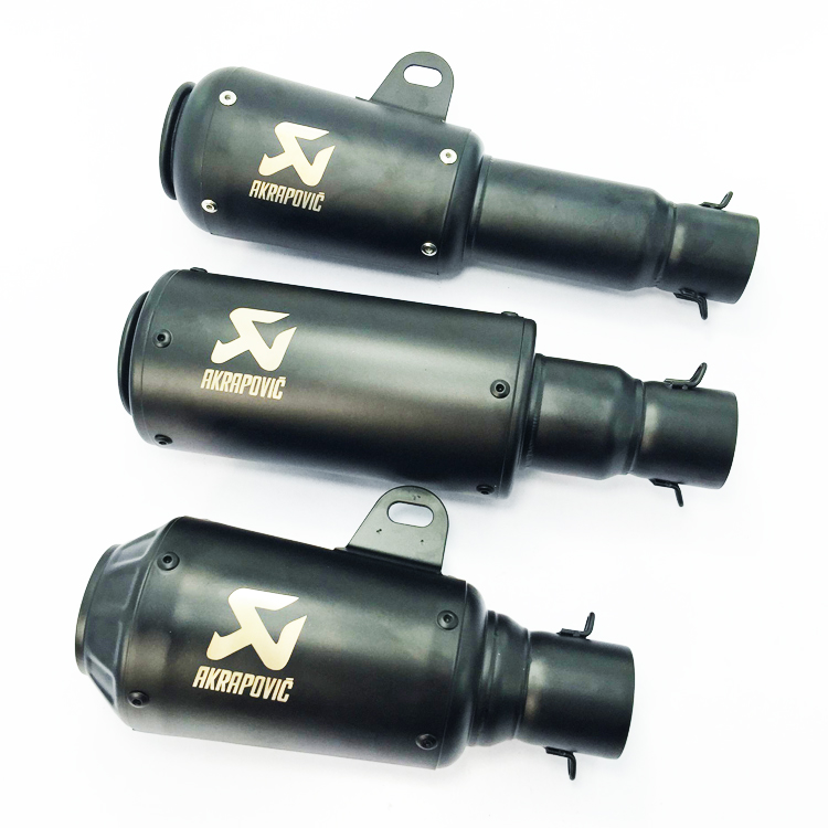 Universal 51mm Motorcycle Motocross Scooter Akrapovic Exhaust Pipe Muffler for CB CRB YZF TTR KTM EXC ZX-10R GSXR ATV