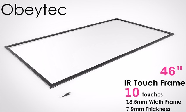 Obeytec 46 inch Infrared Touch Screen Frame, 10 Touch points, Driver free  for Windows/ Adnroid/ Linux, Frame Only-in Touch Screen Panels from  Computer