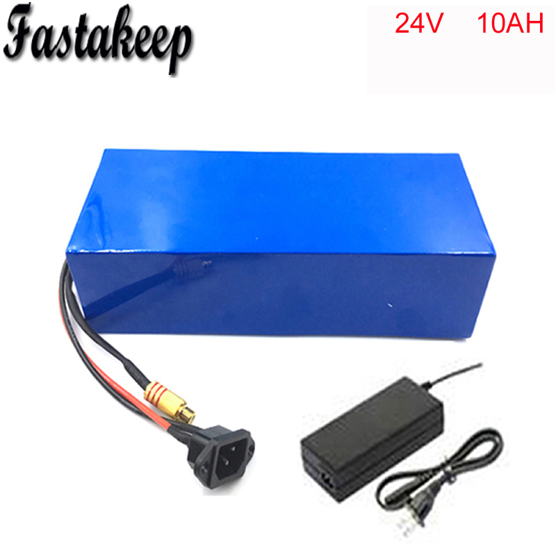No tax DIY rechargeable lithium battery 24v 10ah electric bike battery pack +charger+15amp BMS 2017 new style electric bike battery 24v 100ah lithium battery pack with bms customized