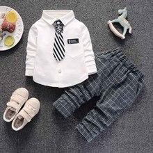 Bibicola Мальчики Костюмы комплекты Демисезонный, детский спортивный костюм, комплект для мальчиков Повседневное; топы; футболки+ штаны, комплекты для малышей для детей Одежда для мальчиков