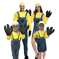 Despicable me Models Minions 2 Cosplay Costumes Boys/Girls Kids/adult Party Clothes Costumes With the Gloves and Glassess
