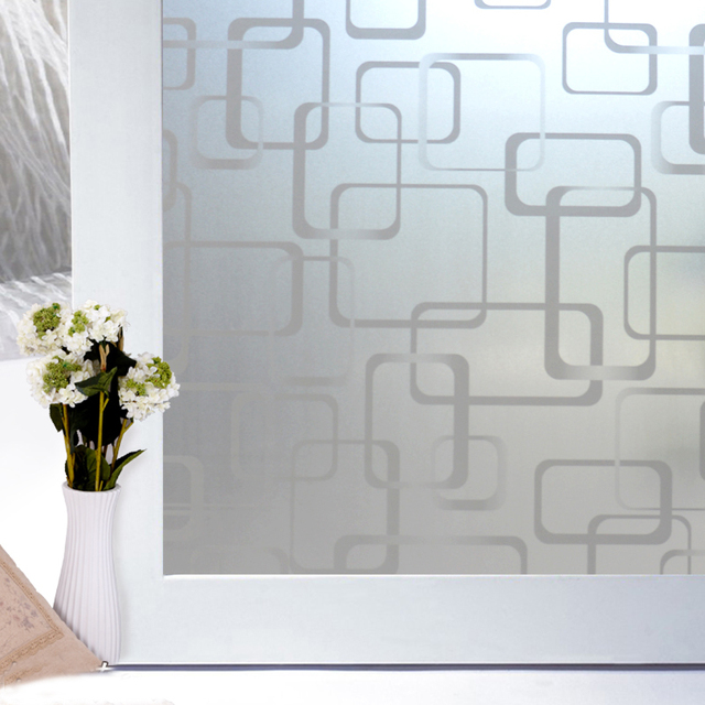 90x500cm self adhesive frosted glass door film privacy decoration glass film window stickers