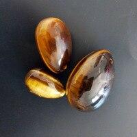 Yoni Egg 3 Pcs Set Drilled Natural Tiger Eye Yoni Egg Egg Gemstone Sphere For Kegel