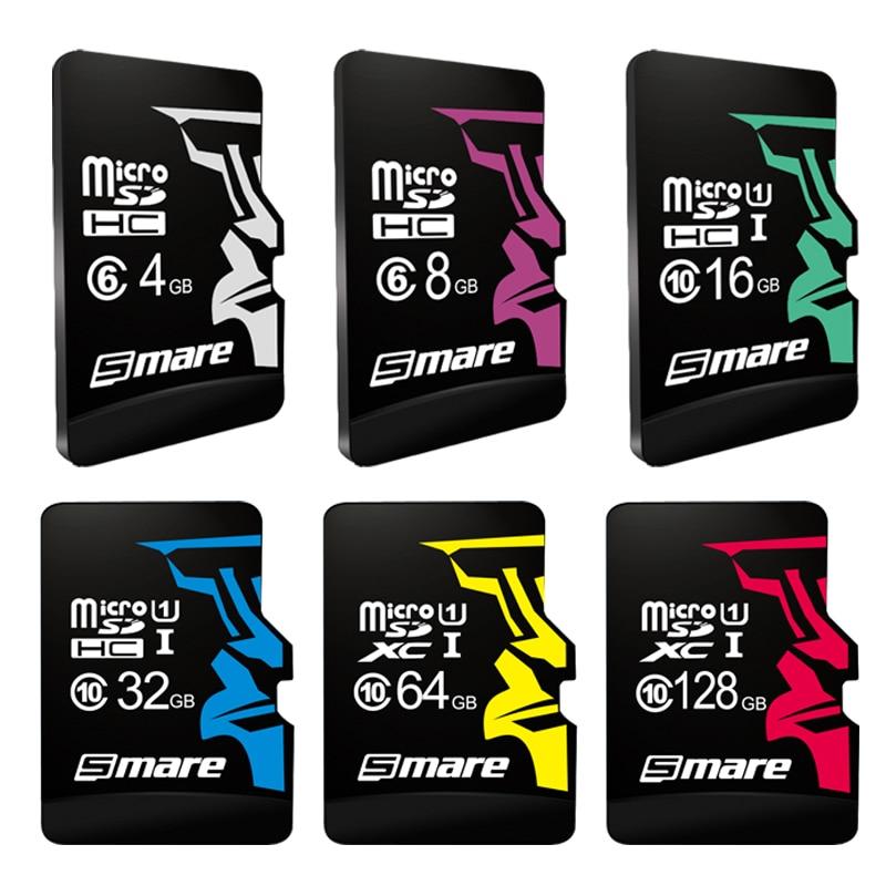 SMARE Micro SD Card 32GB Class 10 16GB/64GB/128GB Class10 UHS-1 4GB/8GB Class 6 Memory Card Fla