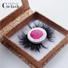Colash Square False Eyelash Packaging Box Custom your Logo Fake 3d Mink eyelashes Boxes Faux Cils lash strip Case Empty