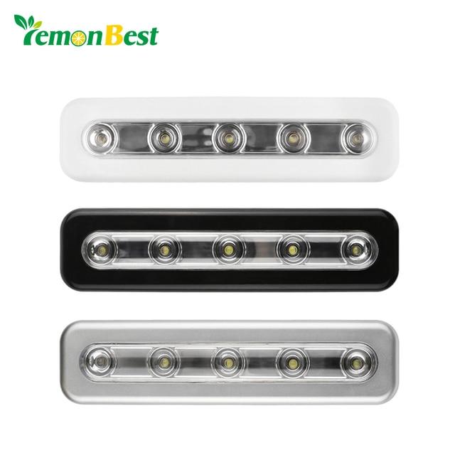 lemonbest mini 5 led nachtlampje closet lamp draadloze muur licht batterij home verlichting voor onder keukenkastjes