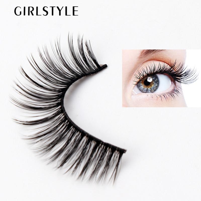 GIRLSTYLE Eye Makeup Tool New 3D False Lashes Long Thick Natural Beauty Makeup Tool Eyelashes Extension False Eyelashes 3 In 1