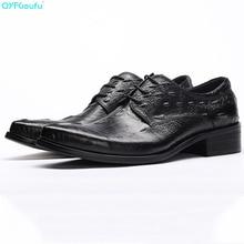 Genuine Leather Oxford Shoes For Men Dress Shoes Crocodile Pattern Men Formal Shoes Pointed Toe Business Wedding Shoe цены онлайн
