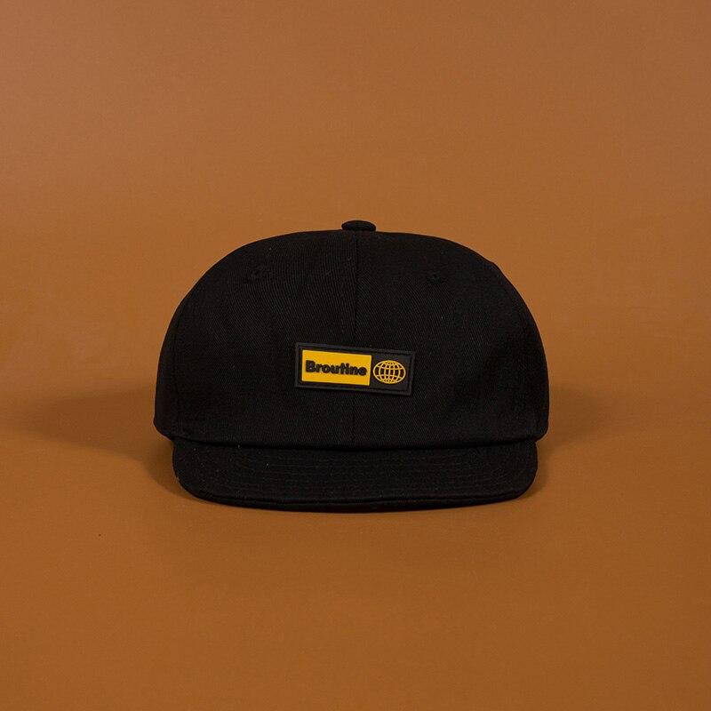2019 New High Quality Unisex Cotton Snapback Cap Letter Embroidery Mens Flat Brim Baseball Cap Fashion Hip Hop Short Brim Hats