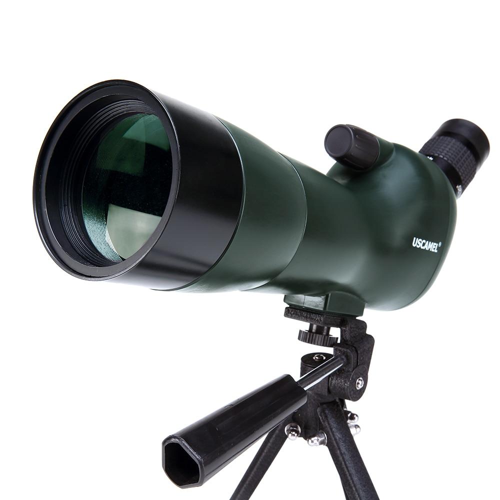 USCAMEL Bird Watching Spotting Scope Impermeabile-20-60x60 Zoom Telescopio Monoculare-Con Il Treppiedi-con la Macchina Fotografica Fotografia Ada