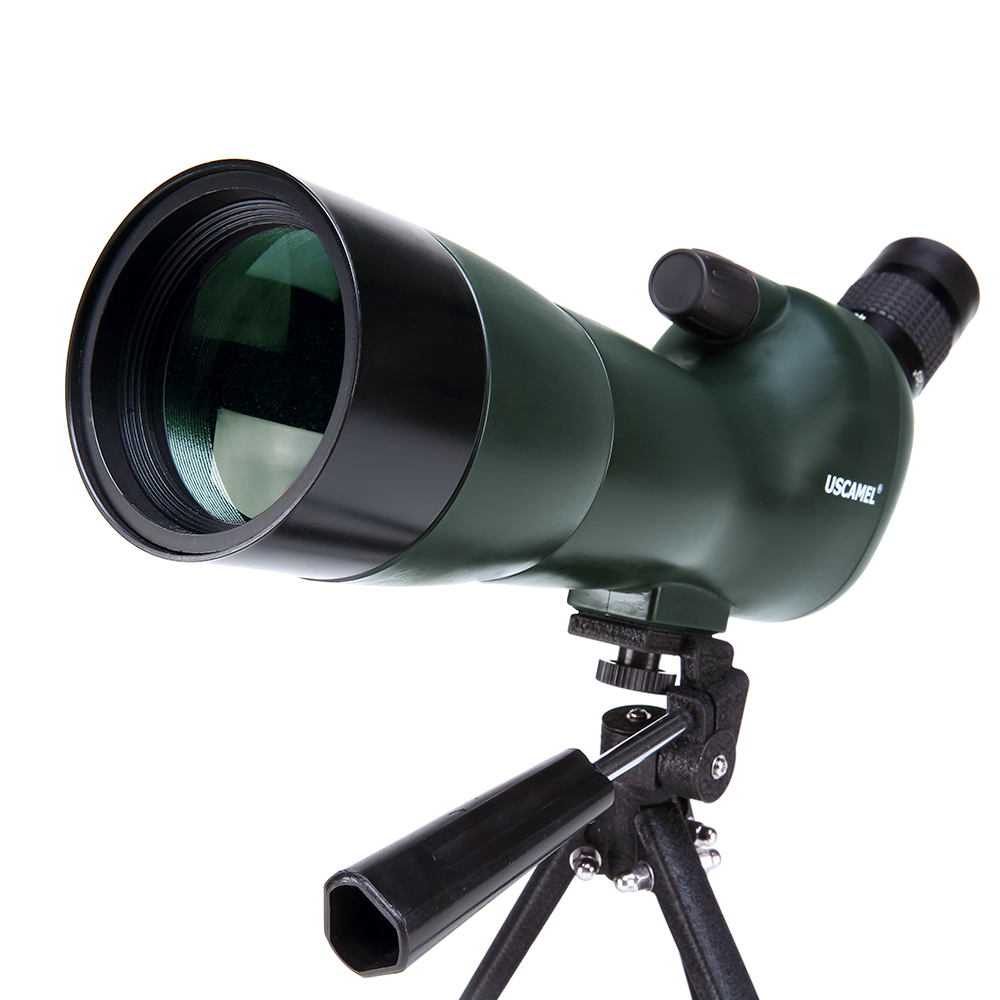 USCAMEL Bird Watching Waterproof Spotting Scope - 20-60x60 Zoom Monocular Telescope - With Tripod - with Camera Photography Ada 10x zoom telescope lens with tripod
