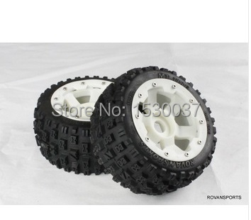 1/5 Scale RC KM RV HPI Baja 5B Buggy Knobby Rear Wheels &Tires (2) 1 18 scale 1995 batman forever batmobile by hot wheels page 5