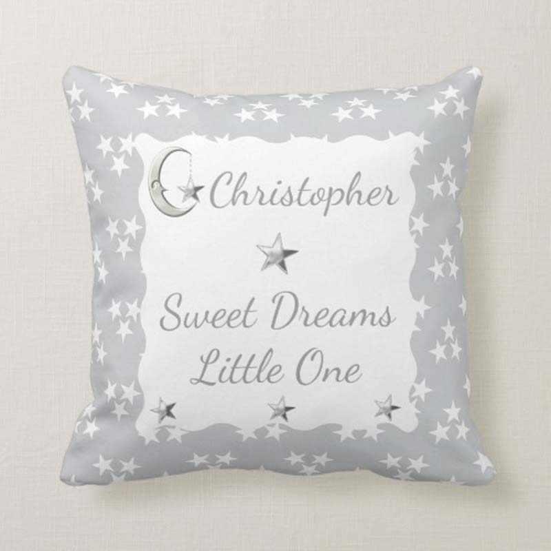 moon stars abstract throw cushion