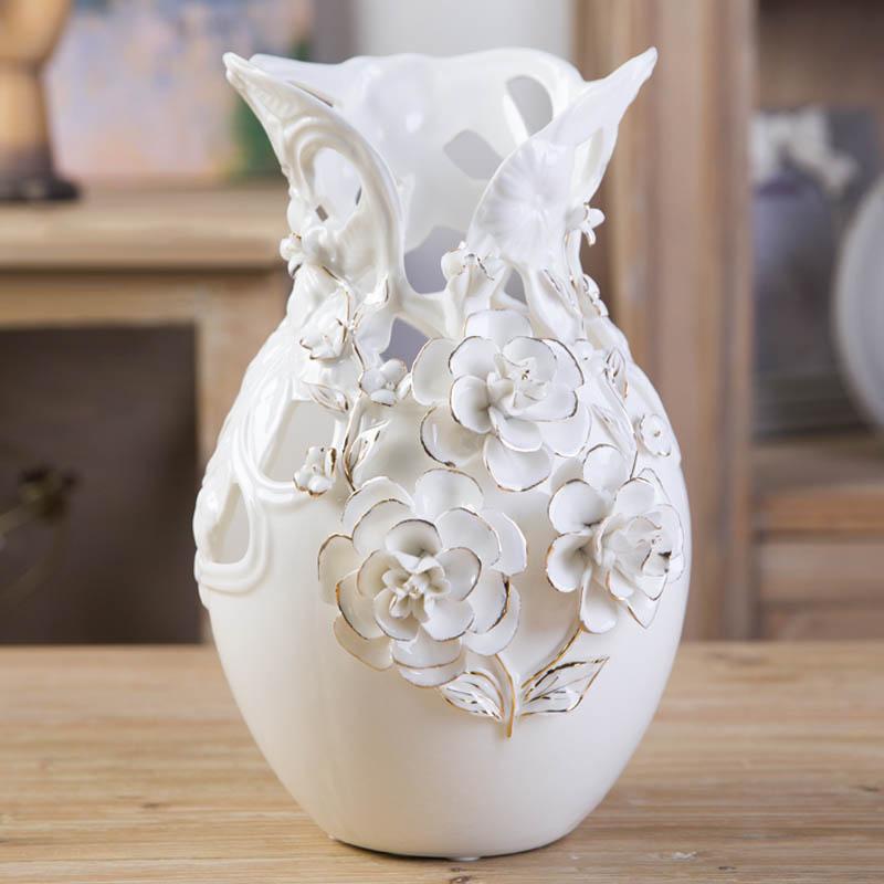 jarrones modernos accesorios para el hogar decoracin saln creativo continental dorado rose flor florero titular