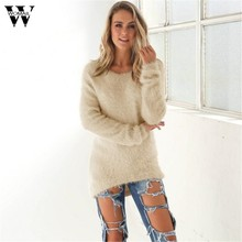 GA@2019 # Fashion Women sweater high elastic Solid Turtleneck sweater women slim sexy tight O-Neck Bottoming Knitted Pullovers(China)