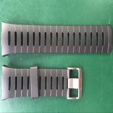 Original 22mm Black Silicone Rubber Watch Strap Waterproof Sports Watch Band For WristsWatch Spovan Leader 2 / SPV709 / SPV710