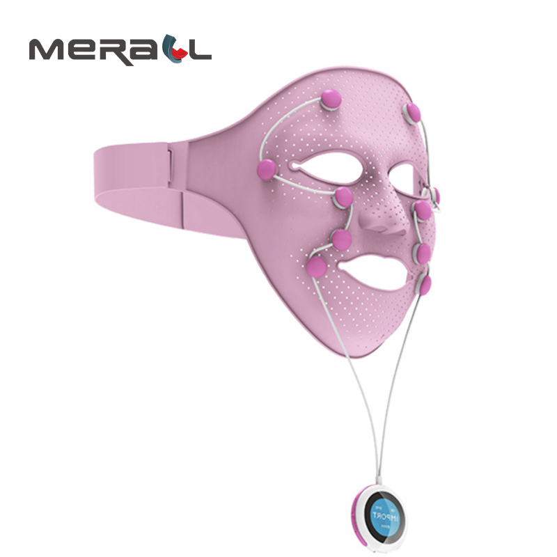 USB Facial Mask Magnetic Massager Anti-Wrinkle Aging Remover Eye Bags Lifting Face Skin Relieve Fatigue Physical Therapy Tool цена