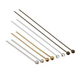 200Pcs20-50mm шпильки на голову золото/серебро/родий/бронзовая Головка Булавки с шариком для ювелирных изделий делая спицы для вязания