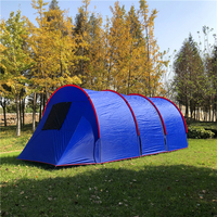 Hot Selling 8 10 Person Dome Tunnel Tent,With 2 room inner tent,,Ground Vents,Carry Bag,Outdoor Tunnel Tent Available in Blue