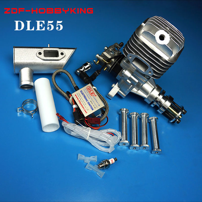 DLE Original New DLE55 55cc DLE Single Cylinder 2-Strokes Gasoline / Petrol Engine for RC Airplane upgraded version dla32 dla 32cc cnc processed gasoline engine petrol engine for rc gas airplane with single cylinder