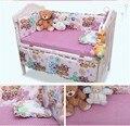 Hot 120 * 64 CM bebé sistemas del lecho incluyen almohada Bumpers colchón, de dibujos animados Mickey bebé cuna ropa de cama decoración, 6 unids 1 Unidades