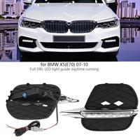 1 пара авто днем ходовые огни DRL светодио дный фары противотуманные лампы для BMW X5 (E70) 2011 2012 2013 стайлинга автомобилей