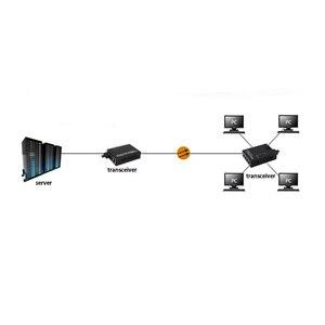 Image 2 - Convertidor de medios Ethernet 10/100M 4 puertos + 1 puerto de fibra óptica SC 1310/1550nm AB convertidor de medios de fibra dual monomodo 1 Uds
