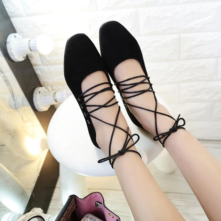 New spring fashion flat lace Up women shoes comfortable round toe loafers female walking casual shoes