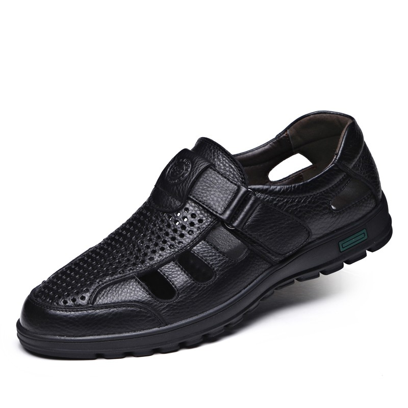 Summer New Cow Leather Shoes Large Size 38-44 Men Beach Swimming Shoes Working Shoes Leisure Sandals Men Shoes DB0062