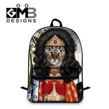 2016 Funny Animal Play School Bags For Teenagers Cute Dog Cat Women Men Big Backpack Casual Kids Schoolbag Travel Shoulder Bag