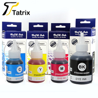 Tatrix For Brother BT6000/6001/6009 BT5000/5001/5009 Refillable Dye Ink Fit for Brother DCP T300/DCP T500W/DCP T700W/MFC T800W|Ink Refill Kits| |  -