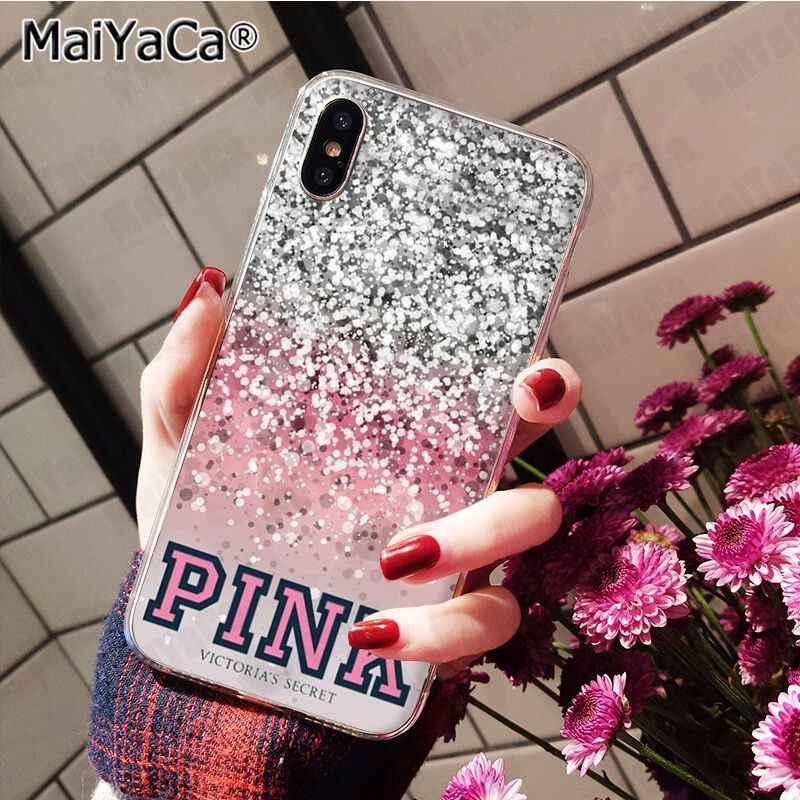 MaiYaCa حار صافي الحب الوردي الأزياء الوردي الحلوى مضحك الأزياء جراب هاتف ل iphone 11 برو 8 7 66S زائد X 10 5S SE XR XS XS ماكس